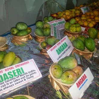Assorted varieties of mangoes