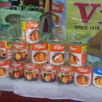 Goa's famous mango variety, Alphonso - its tinned pulp