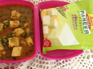 Matar paneer - hard to resist!